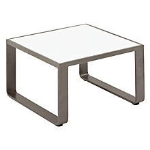 Buy Gloster Club Square Outdoor Side Table, Tungsten / White HPL, 71 x 71cm Online at johnlewis.com