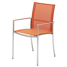 Buy Gloster Fusion Stacking Outdoor Sling Chairs with Arms Online at johnlewis.com