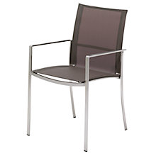 Buy Gloster Fusion Stacking Outdoor Sling Chair with Arms Online at johnlewis.com