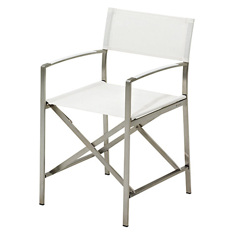 Buy Gloster Fusion Folding Outdoor Sling Chair with Arms Online at johnlewis.com