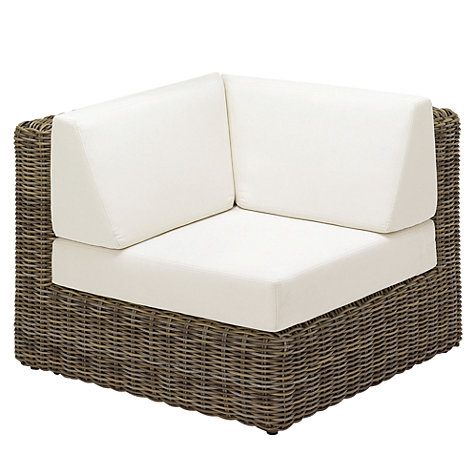 Buy Gloster Havana Modular Outdoor Left Corner Unit Online at johnlewis.com