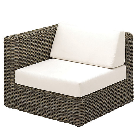 Buy Gloster Havana Modular Outdoor Left End Unit with Waterproof Cushions, Willow Online at johnlewis.com