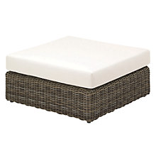 Buy Gloster Havana Modular Outdoor Ottoman with Waterproof Cushion, Willow Online at johnlewis.com