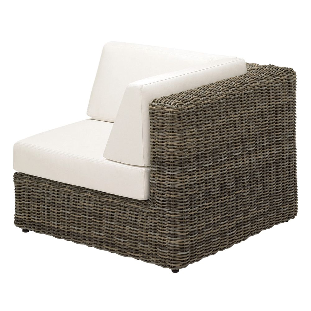 Gloster Havana Modular Outdoor Right Corner Unit with Waterproof Cushions, Willow