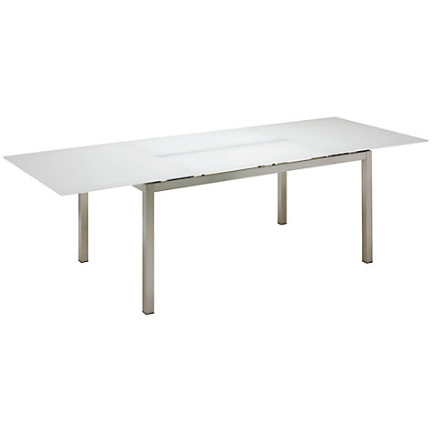 Buy Gloster Kore Rectangular 8-10 Seater Extending Outdoor Dining Table with Glass Top Online at johnlewis.com
