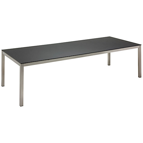 Buy Gloster Kore Rectangular 10 Seater Outdoor Dining Table with Glass Top Online at johnlewis.com