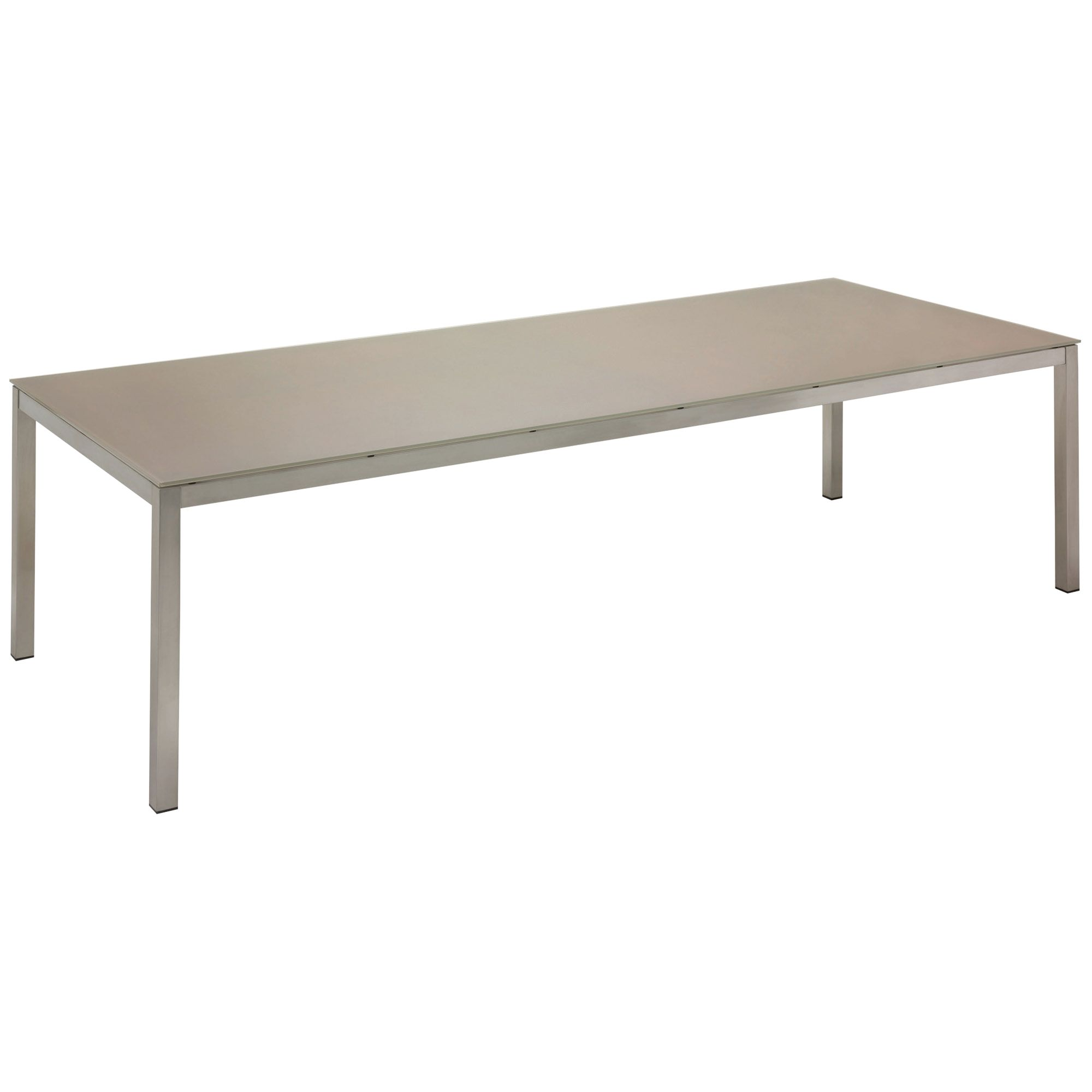 Gloster Kore Rectangular 10 Seater Outdoor Dining Tables, Taupe HPL