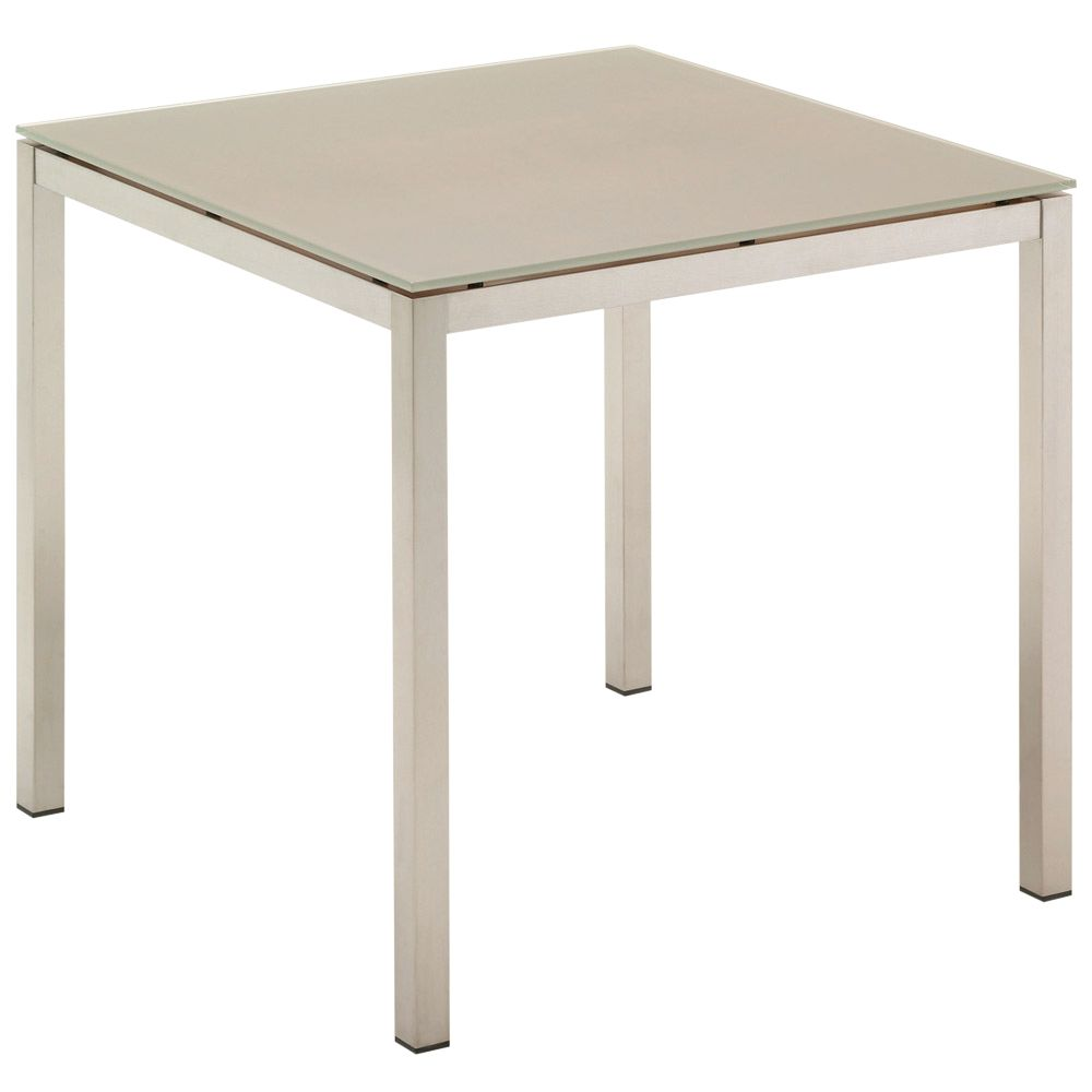 Buy cheap glass square dining table compare tables for Square glass dining table