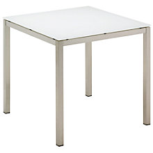 Buy Gloster Kore Square 4 Seater Outdoor Dining Table with Glass Top Online at johnlewis.com