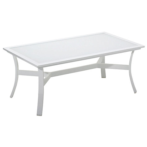 Buy Gloster Roma Rectangular Outdoor Coffee Table with Glass Top Online at johnlewis.com