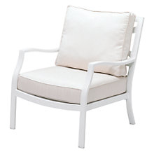 Buy Gloster Roma Deep Seating Outdoor Armchair, Crystal White Online at johnlewis.com