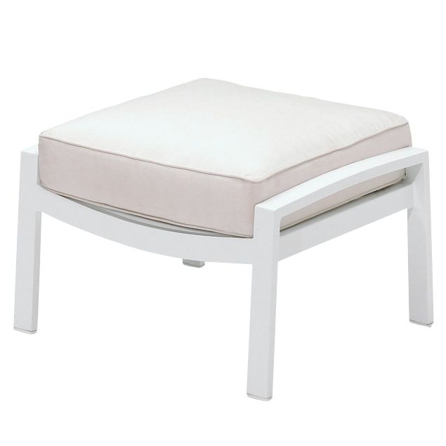 Gloster Roma Deep Seating Outdoor Ottoman, Crystal White