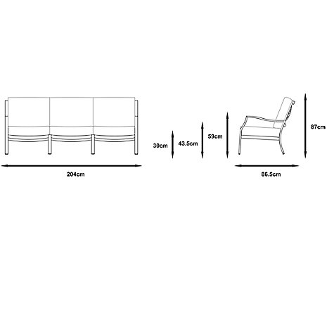 Buy Gloster Roma Deep Seating 3 Seater Outdoor Sofa Online at johnlewis.com