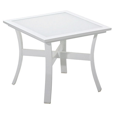 Buy Gloster Roma Square Outdoor Side Table with Glass Top Online at johnlewis.com