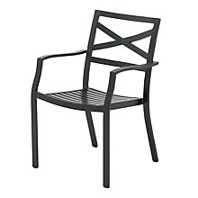 Buy Gloster Roma Stacking Outdoor Chair with Arms Online at johnlewis.com
