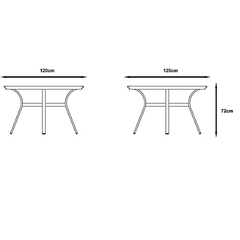 Buy Gloster Roma Round 4 Seater Outdoor Dining Table with Glass Top Online at johnlewis.com