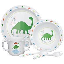Buy John Lewis Dinosaur Melamine Dinner Set Online at johnlewis.com