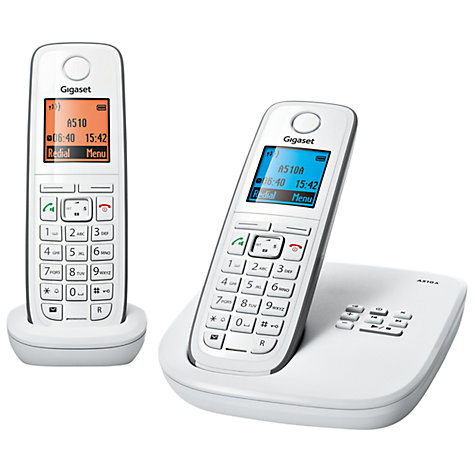 Buy Gigaset A510A Digital Telephone and Answering Machine, Twin DECT, White Online at johnlewis.com