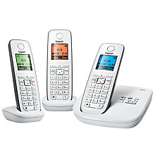Buy Gigaset A510A Digital Telephone and Answering Machine, Trio DECT, White Online at johnlewis.com