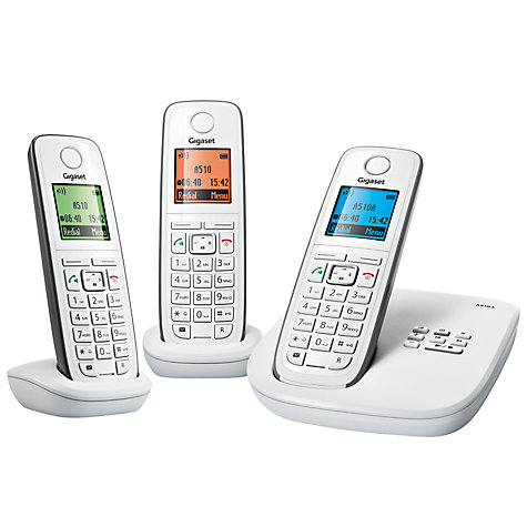 Buy Gigaset A510A Digital Telephone and Answering Machine, Trio DECT, White & Grey Online at johnlewis.com