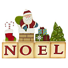 Buy John Lewis Wooden Noel Blocks Online at johnlewis.com