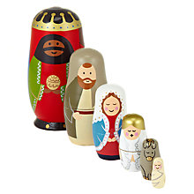 Buy John Lewis Nativity Scene Russian Dolls Online at johnlewis.com