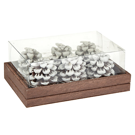 Buy John Lewis Pine Cone Tealights Online at johnlewis.com
