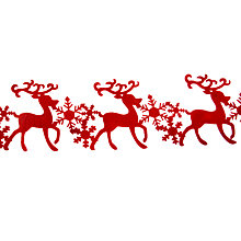 Buy John Lewis Felt Reindeer Table Runner, Red Online at johnlewis.com