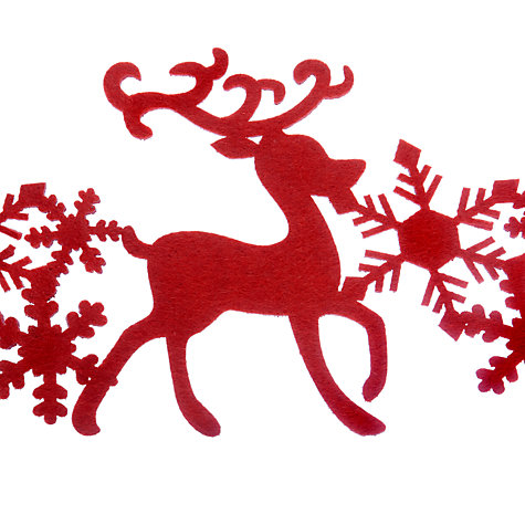 Online johnlewis.com Buy table Reindeer Runner, runner Lewis christmas Table waitrose  at John Red Felt