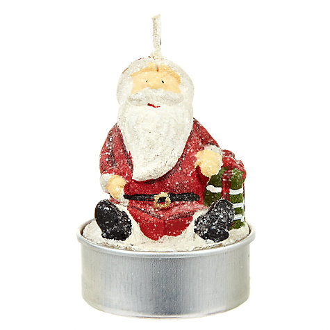 Buy John Lewis Standing Santa Tealights Online at johnlewis.com