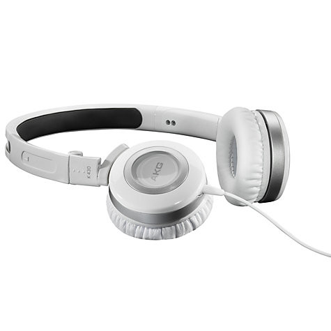 Buy AKG K430WHT On-Ear Headphones, White Online at johnlewis.com