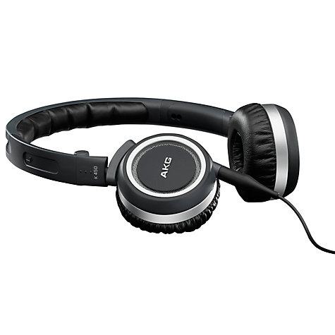 Buy AKG K450BLU On-Ear Headphones, Navy Online at johnlewis.com
