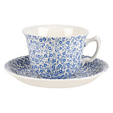 Buy Burleigh Felicity Tea Cup & Saucer, Blue Online at johnlewis.com