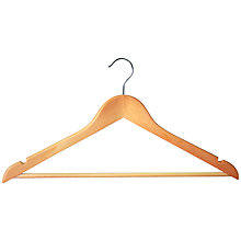 Buy Maple Wood Clothes Hangers, Set of 24 Online at johnlewis.com