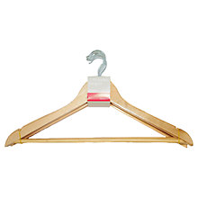 Buy Eucalyptus Wood Wishbone Clothes Hangers, Set of 7 Online at johnlewis.com