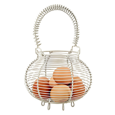 Buy Garden Trading Small Wire Egg Basket, Clay Online at johnlewis.com