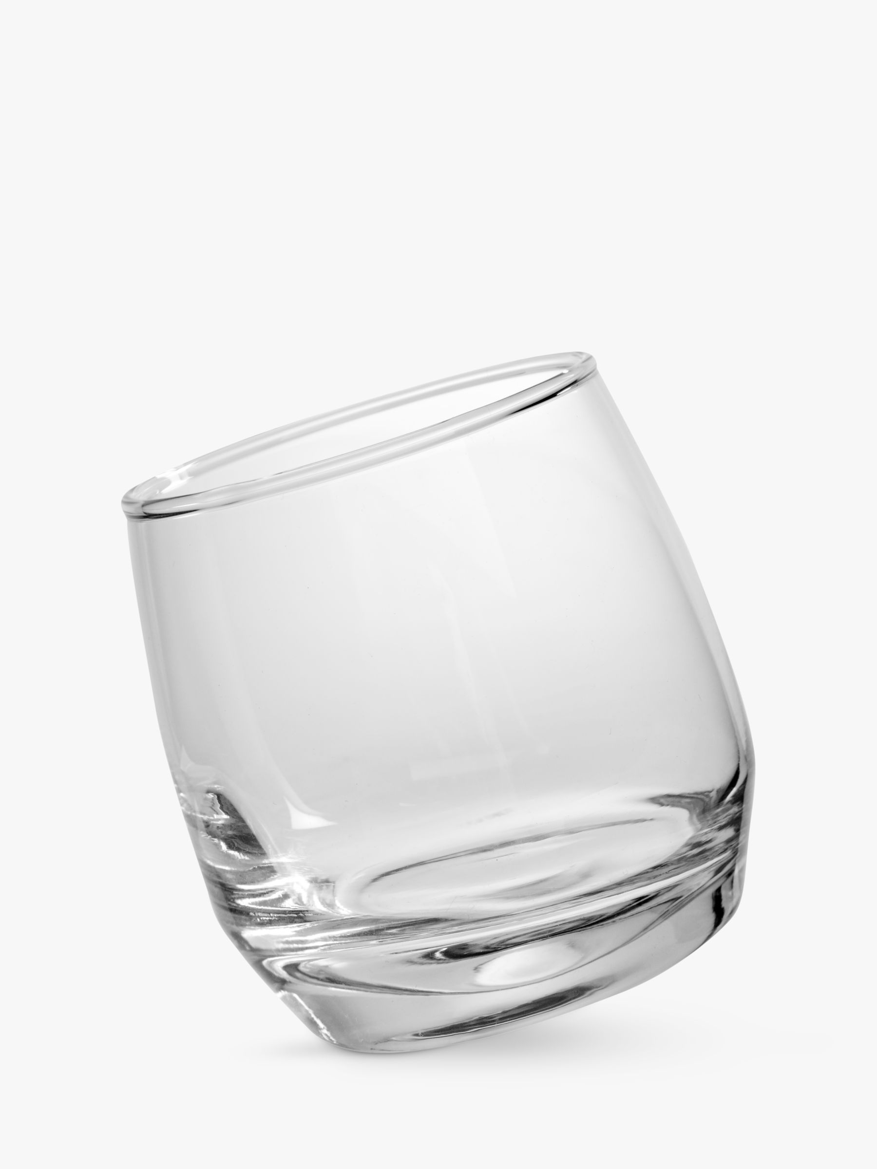 Sagaform Sagaform Round Bottom Whisky Glasses, Set of 6, Clear