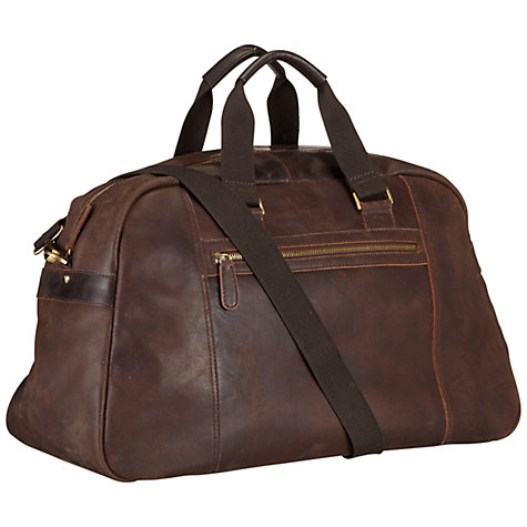 Buy John Lewis Rio Oily Leather Holdall, Brown Online at johnlewis.com