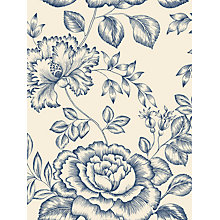 Buy John Lewis Botanical Rose Wallpaper, Pacific Blue Online at johnlewis.com
