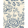 John Lewis Botanical Rose Wallpaper, Pacific Blue
