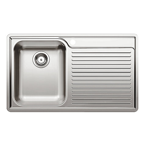 Buy Blanco Classic 45S-IF 8 Tap Pack, Left Hand Bowl, Stainless Steel Online at johnlewis.com
