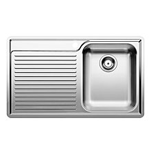 Buy Blanco Classic 45S-IF Sink 8 Tap Pack, Right Hand Bowl, Stainless Steel Online at johnlewis.com