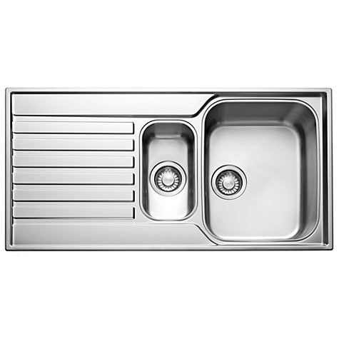 Buy Franke Ascona ASX 651 1.5 Sink with Reversible Bowl, Silk Steel Online at johnlewis.com