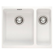 Buy Franke Kubus KBG 160 1.5 Sink with Right Hand Small Bowl, Polar White Online at johnlewis.com