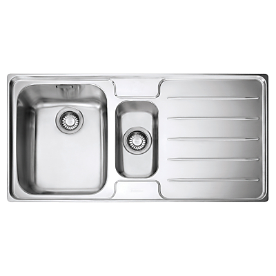 Franke Laser LSX 651 1.5 Sink with Left Hand Bowl Stainless Steel