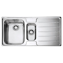 Buy Franke Laser LSX 651 1.5 Sink with Left Hand Bowl, Stainless Steel Online at johnlewis.com