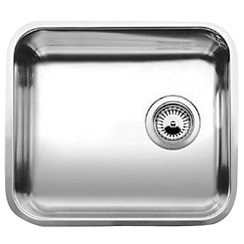 Buy Blanco Supra 450 Undermounted Single Bowl Sink, Stainless Steel Online at johnlewis.com