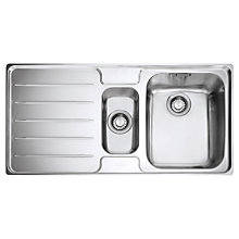 Buy Franke Laser LSX 651 1.5 Sink with Right Hand Bowl, Stainless Steel Online at johnlewis.com