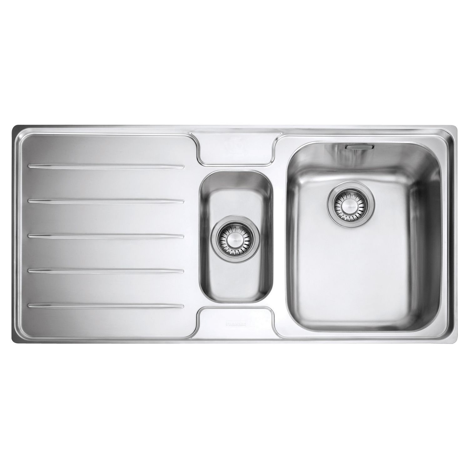 Franke Franke Laser LSX 651 1.5 Sink with Right Hand Bowl, Stainless Steel