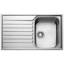 Buy Franke Ascona ASX 611 Sink, Satin Silk Steel Online at johnlewis.com